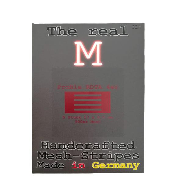 1 x 5 Stück THE REAL M Profile RDTA 4er SS316 MESH 500 Coil Wickeldraht