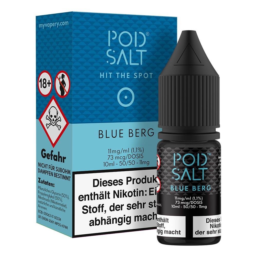 Pod Salt Blue Berg Nikotinsalz (50/50) 11mg 10ml