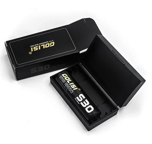 Golisi Aufbewahrungsbox Hardcover Case für 2 x 18650 Akku