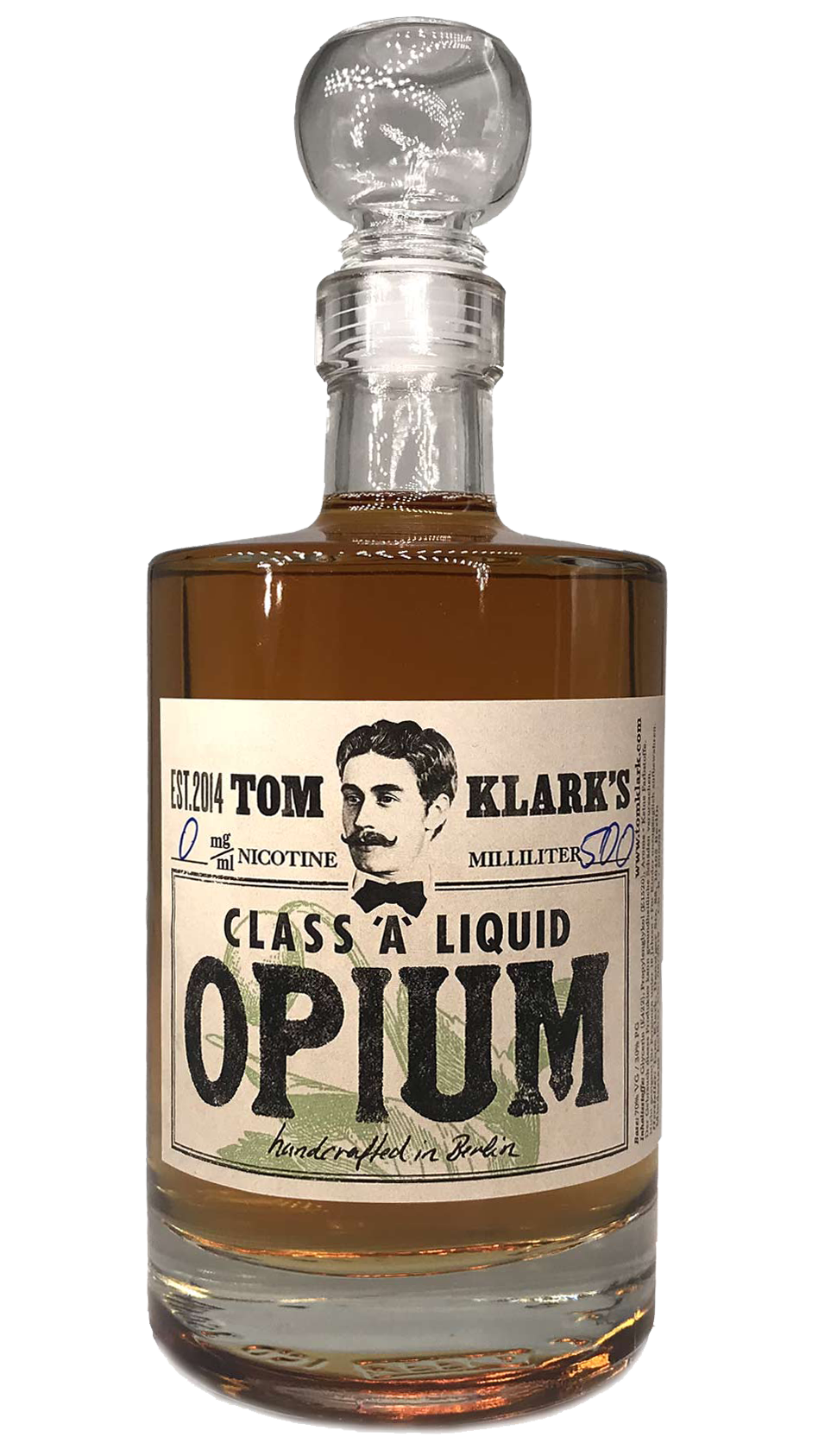 TOM KLARK Glasflasche Opium 500ml Kapazität (Leerflasche)