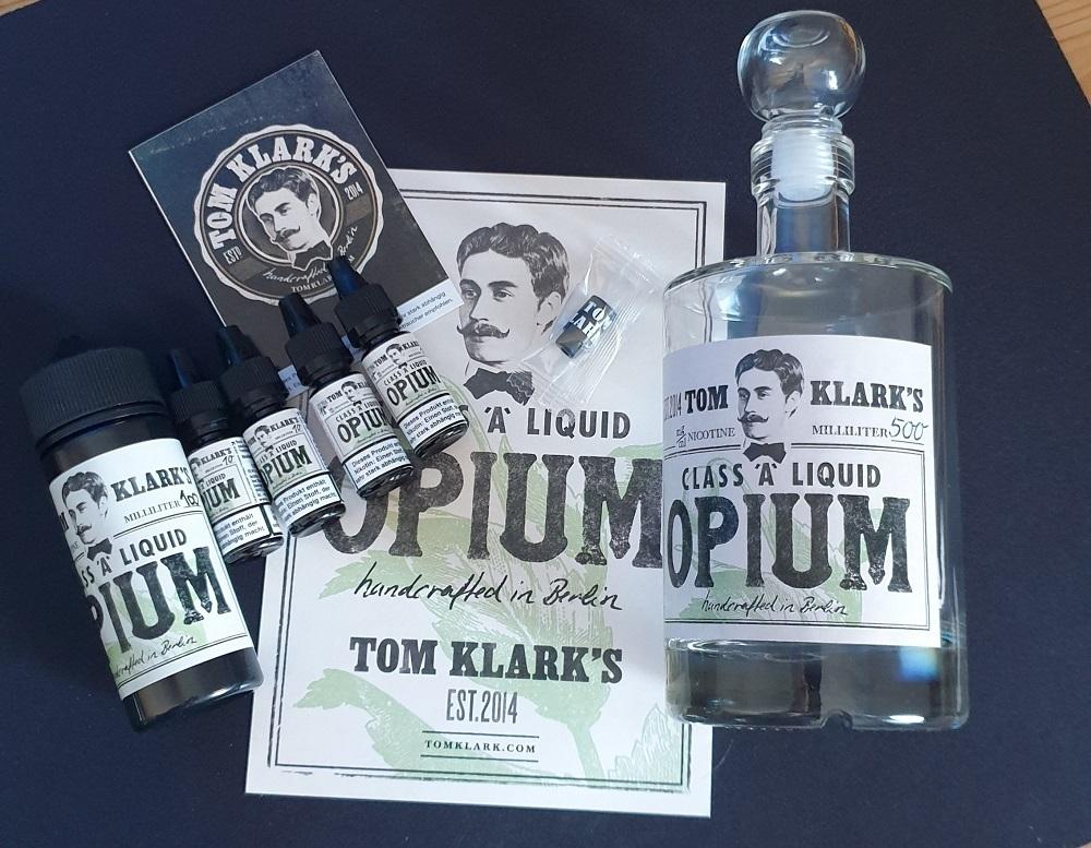 TOM KLARK Opium *Special* 120ml - 6mg inkl. Design Glasflasche