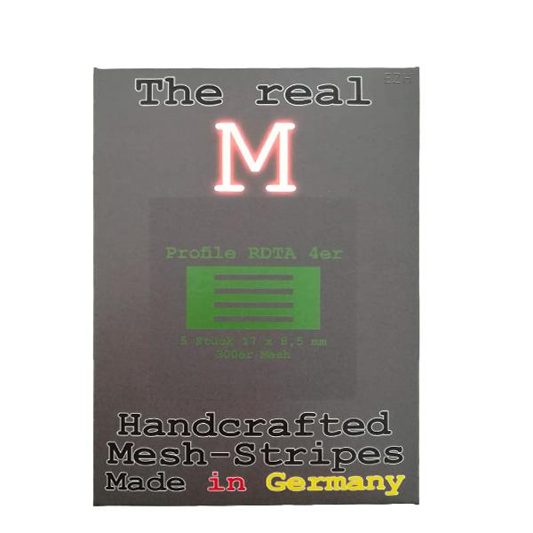 1 x 5 Stück THE REAL M Profile RDTA 4er SS316 MESH 300 Coil Wickeldraht
