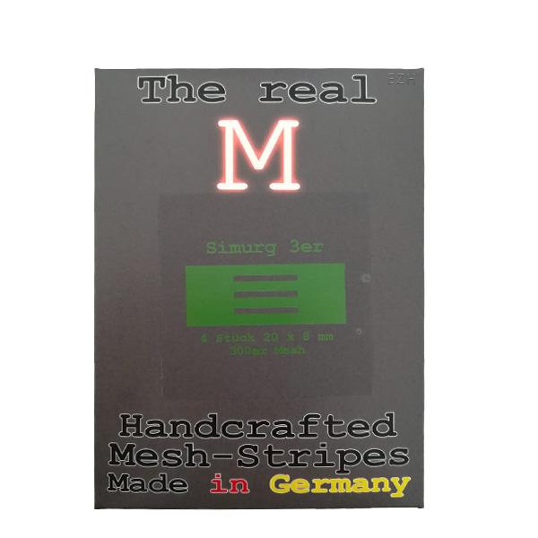 1 x 4 Stück THE REAL M Simurg 3er SS316 MESH 300 Coil Wickeldraht