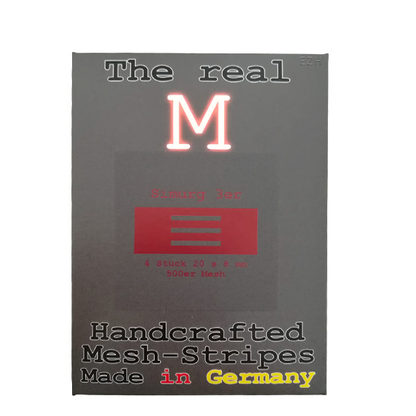 1 x 4 Stück THE REAL M Simurg 3er SS316 MESH 500 Coil Wickeldraht