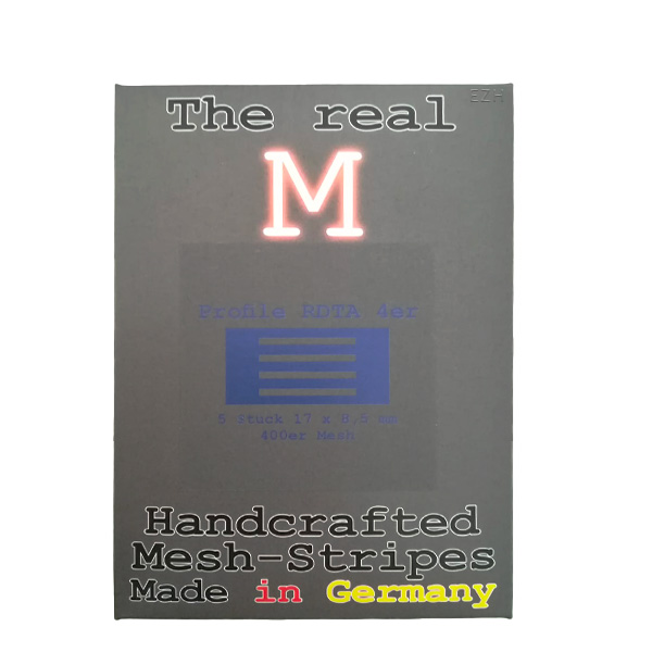 1 x 5 Stück THE REAL M Profile RDTA 4er SS316 MESH 400 Coil Wickeldraht