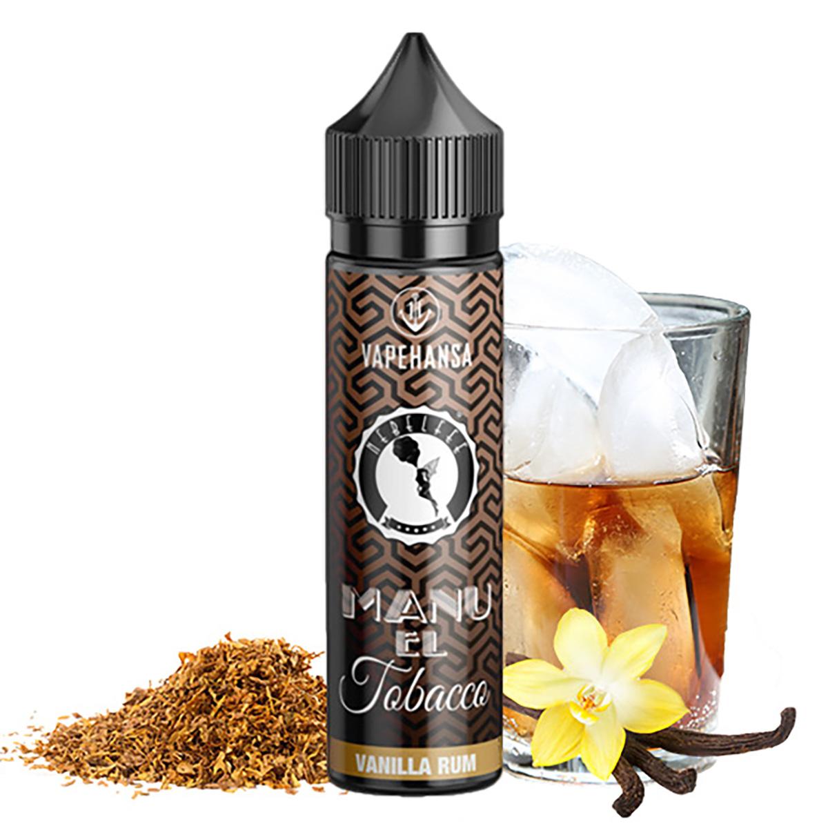 NEBELFEE Manu EL Tobacco Vanilla Custard Rum Aroma 10ml Longfill