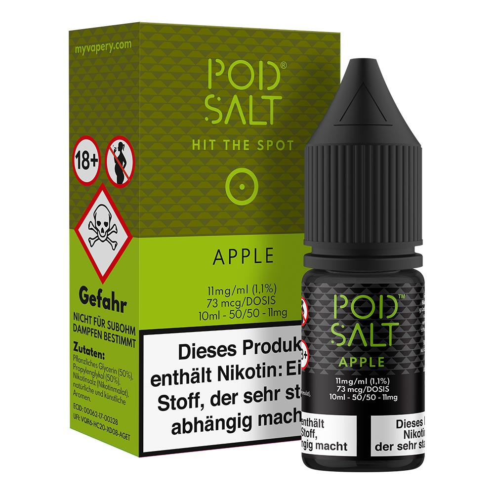 Pod Salt Apple Nikotinsalz (50/50) 11mg 10ml