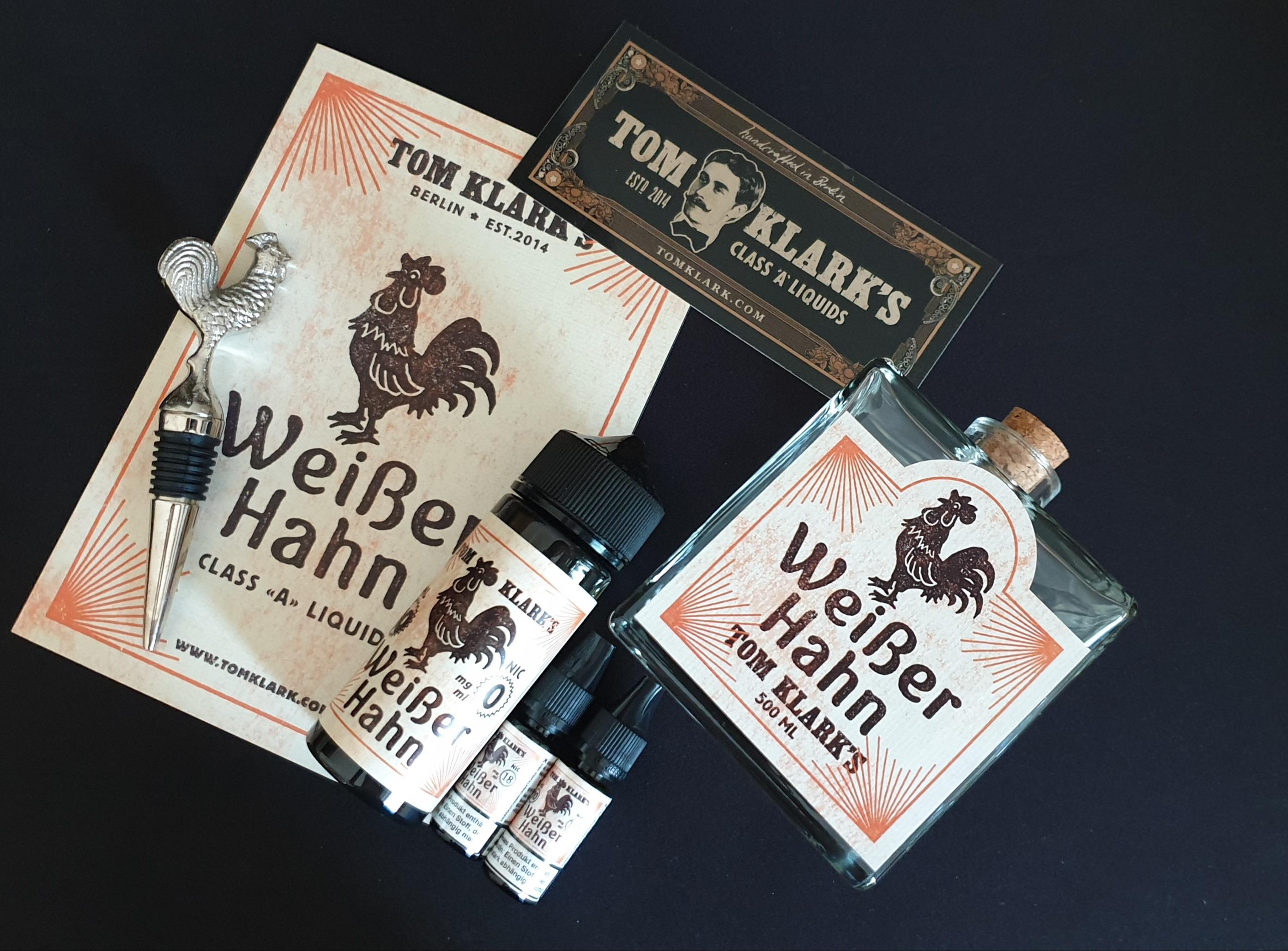 TOM KLARK Weißer Hahn *Special* 120ml 3mg inkl. Design Glasflasche