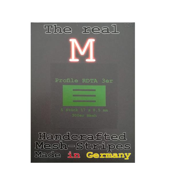 1 x 5 Stück THE REAL M Profile RDTA 3er SS316 MESH 300 Coil Wickeldraht