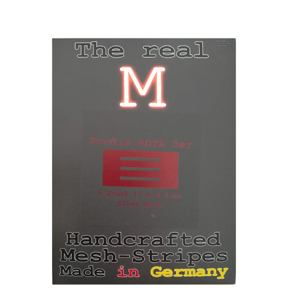 1 x 5 Stück THE REAL M Profile RDTA 3er SS316 MESH 500 Coil Wickeldraht