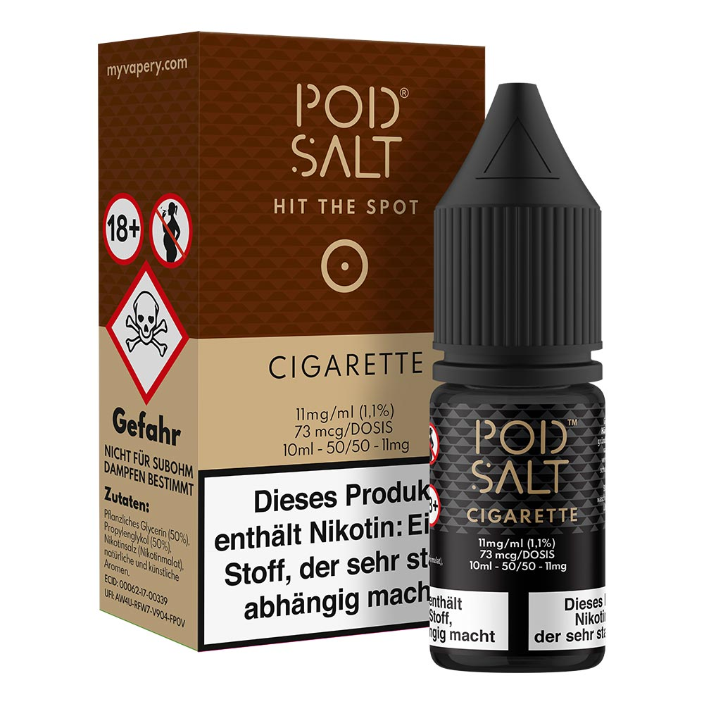 Pod Salt Cigarette Nikotinsalz (50/50) 11mg 10ml