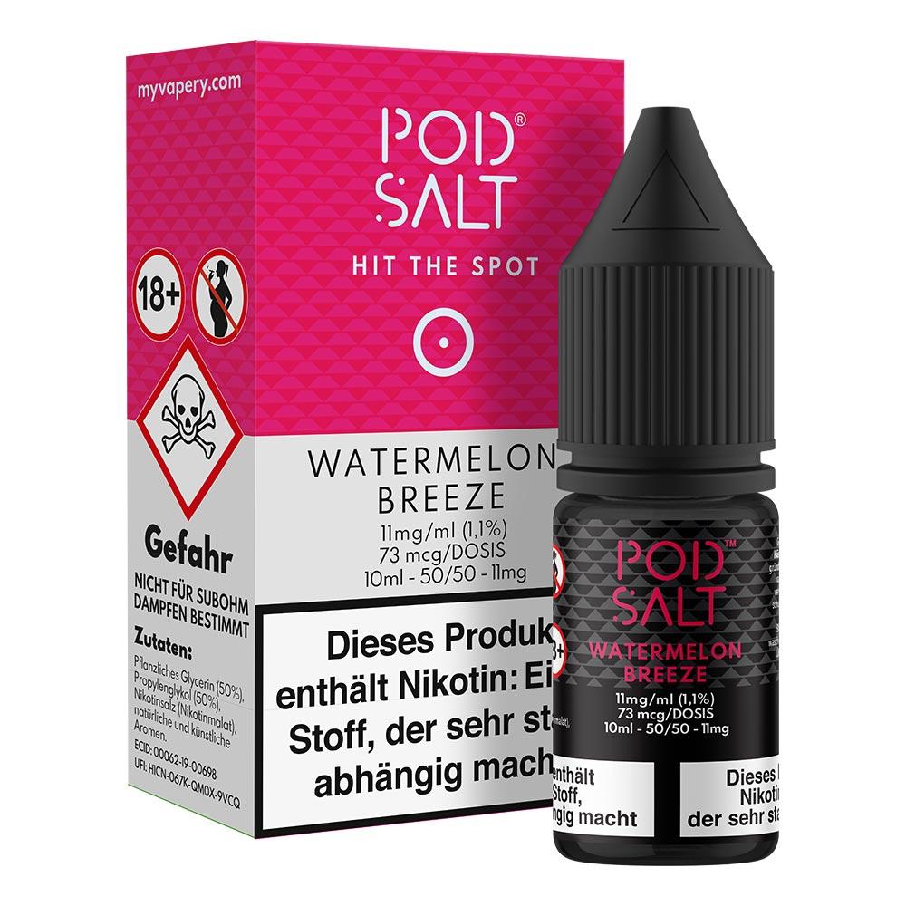 Pod Salt Watermelon Breeze Nikotinsalz (50/50) 11mg 10ml