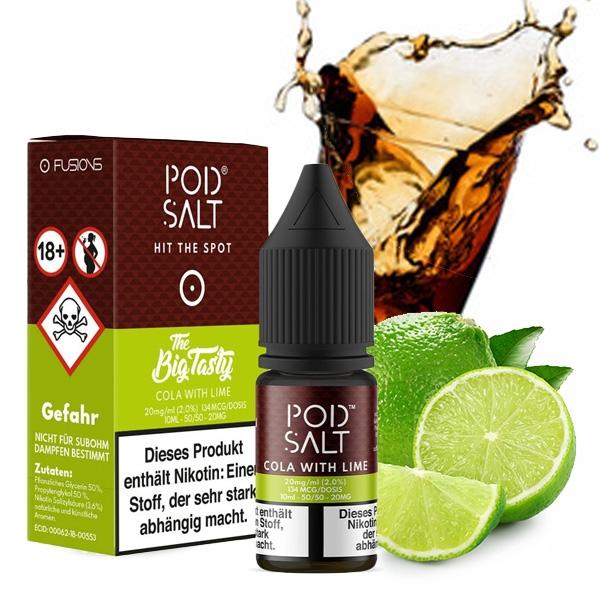 Pod Salt Fusion Big Tasty Cola with Lime Nikotinsalz (50/50) 20mg - 10ml