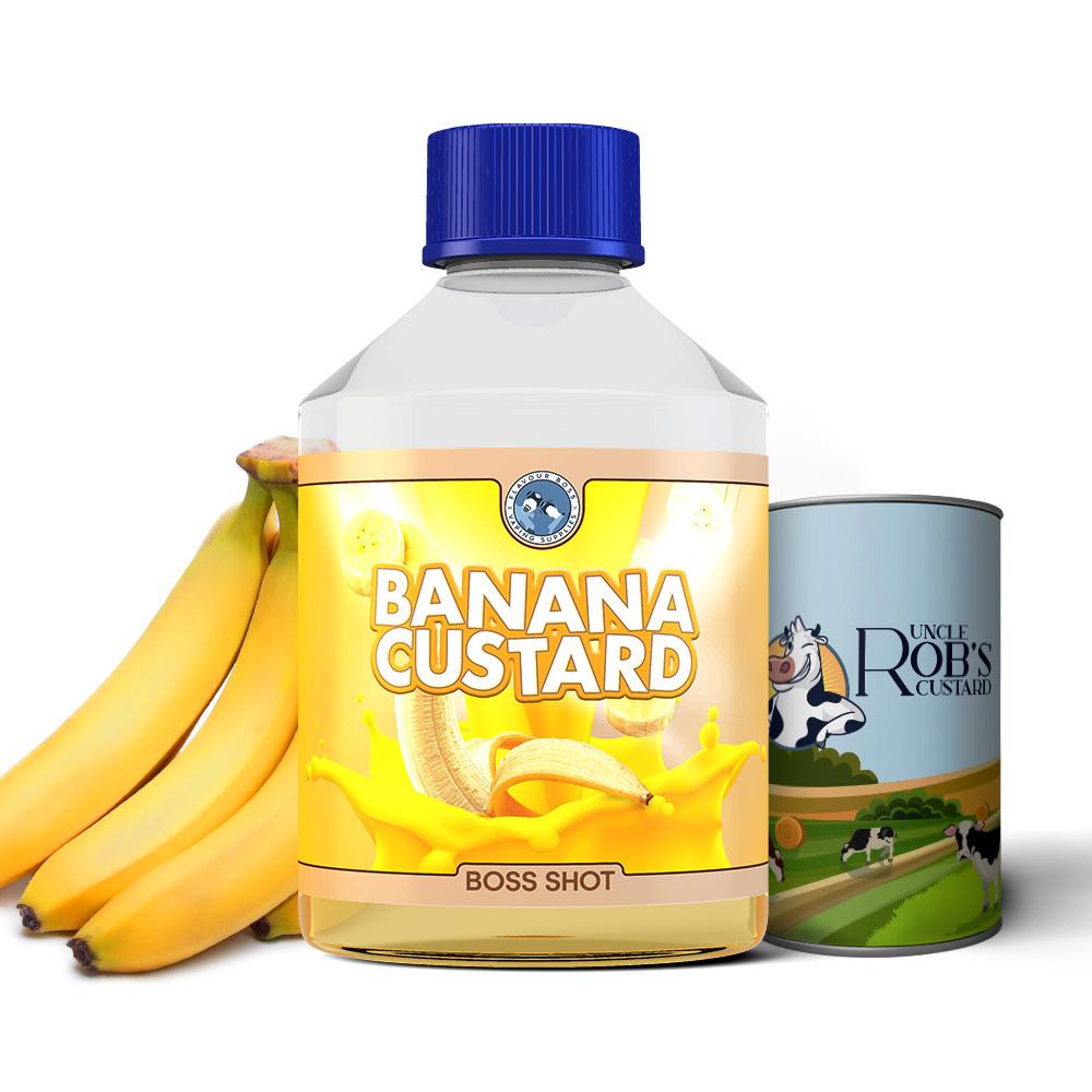 BOSS SHOT Banana Custard by Flavour Boss 500ml