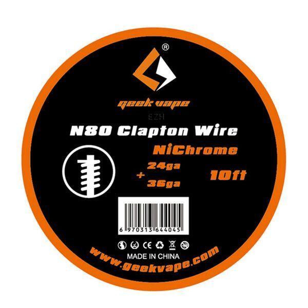 Geekvape 3 Meter N80 Clapton Wire 24/36GA Wickeldraht ZN06