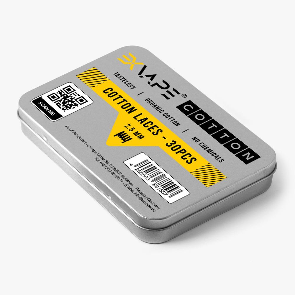 eXvape  Expromizer V5 Schnürsenkelwatte 2,5mm (30 Sück pro Dose)