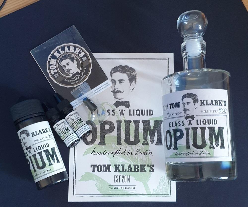 TOM KLARK Opium *Special* 120ml - 3mg inkl. Design Glasflasche